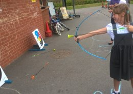 archery at before and after school club bedfordshire