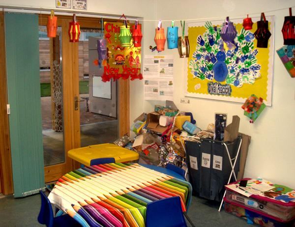 Inside the class room