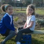 Seesaw fun outdoors