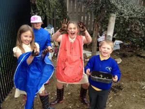 forest school mud play at Dawn Until Dusk